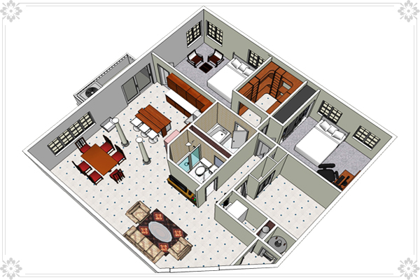 Interior Design Using Sketchup Sketchup Interior Walkthrough Interior And Exterior Shadow