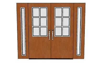 Sketchup material 3d 3d double entry doors for Door 3d warehouse