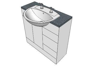 Bathroom vanity components bathroom design ideas for Sketchup bathroom sink