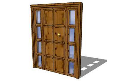 sketchup components 3d warehouse door entry door On door 3d warehouse