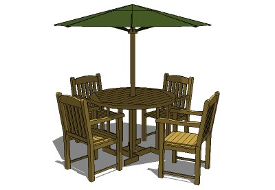 Sketchup components 3d warehouse exterior furniture teak for Outdoor furniture 3d warehouse