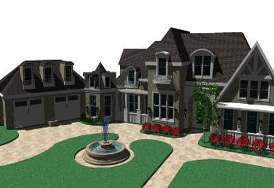 Sketchup components 3d warehouse home american dream home 3 for American dream homes magazine