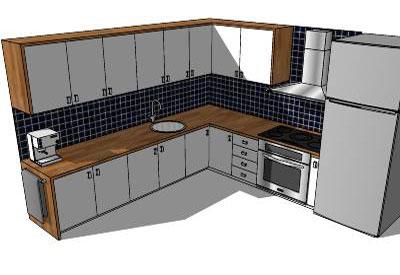 Sketchup components 3d warehouse kitchen sketchup for Sketchup kitchen design