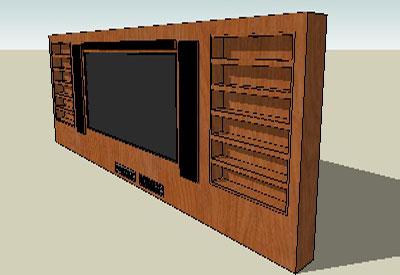 Sketchup Components 3d Warehouse Tv Wood Set Television